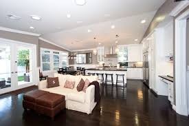 Open Floor Kitchen Designs Awesome Extraordinary Kitchen Living Room Open Floor Plan Pictures