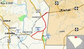 sc highway map south carolina highway 75