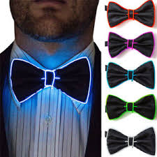 light up bow tie led light up mens bow tie necktie luminous flashing dance party