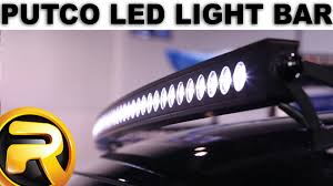 Led Light Bar Parts by Putco Led Light Bars On A Ford F150 Youtube