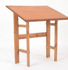 Collapsible Drafting Table Vintage Wooden Folding Drafting Table Ebth