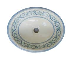 details about 053 small 16x11 5 mexican bathroom sink ceramic