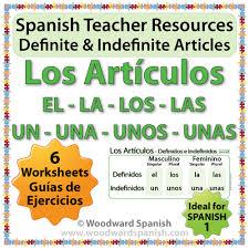 spanish teacher resource definite and indefinite articles in