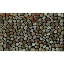 apache mills pebble beach 18 in x 30 in recycled rubber door mat