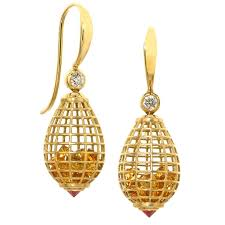 antique citrine drop earrings 101 for sale at 1stdibs