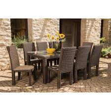 8 Piece Patio Dining Set - lloyd flanders mesa wicker 9 piece patio dining set lf mesa set1
