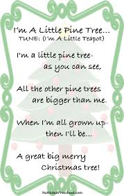 im a pine tree song nuttin but preschool