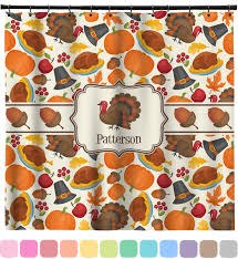 traditional thanksgiving shower curtain personalized potty