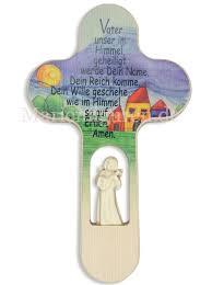 kreuz für kinderzimmer kinderkreuz vater unser mit engel aus holz kaufen
