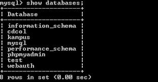 membuat database akademik dengan mysql new born tutorial mysql membuat database akademik dengan cmd