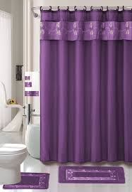 Bathroom Sets Shower Curtain Rugs Purple Flower 18 Bathroom Set 2 Rugs Mats 1
