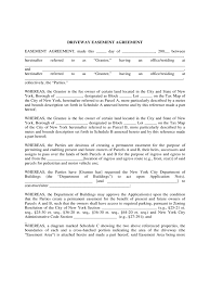 New York City Tax Map by Driveway Easement Agreement Form 4 Free Templates In Pdf Word