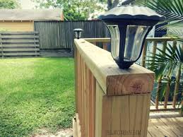 Landscaping Solar Lights by Easy Diy Deck Solar Lights In 20 Minutes
