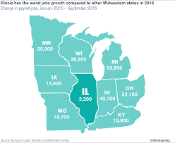 Map Of Midwestern States by Illinois U0027 September 2015 Jobs Report Businesses Lay Off Thousands