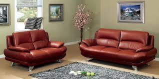 Red Sofa Furniture S282 Dr Sofa In Dark Red Leather By Pantek W Options