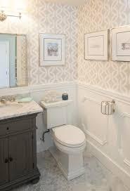 Vanity Powder Room St James Single Vanity In Powder Room Transitional Bathroom