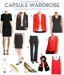 over 40 work clothing capsule wardrobe for business professional women
