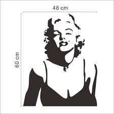 Marilyn Monroe Wall Sticker Marilyn Monroe Silhouette Wall Decal Marilyn Monroe Decor Ebay