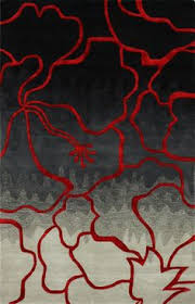 exciting red and gray area rugs black home website