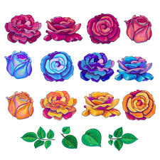 multicolor roses multicolor roses collection vector free