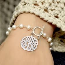 monogram bracelet sterling silver monogram bracelets