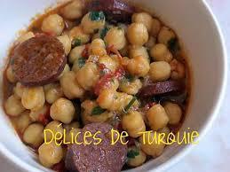 cuisiner pois chiches recette de pois chiches au sucuk turc ou chorizo