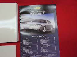 amazon com 2005 chevrolet impala owners manual chevrolet automotive