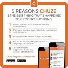 save money by using chuze the free shopping list app