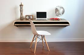 Minimal Table Design Minimal Wall Desk Walnut Large Pull Out Shelf Ideal For