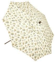 Floral Patio Umbrella Auto Tilt 9 Foot Market Umbrella Toast Floral
