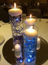 blue centerpieces blue centerpieces cylinder vases with led lighting funky flickr
