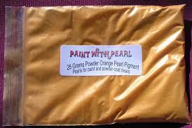bright orange candy pearl color shift pearls