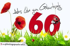 geburtstag 60 sprüche geburtstagskarte mit blumenwiese zum 60 geburtstag