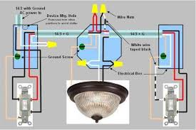 9 best images of double switch wiring diagram double light