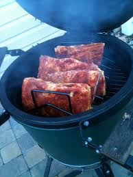 pork ribs on the big green egg grillgirl healthy grilling