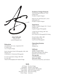 graphic designer resume freelance graphic design resume