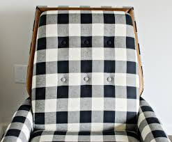 black u0026 white buffalo check chairs the vintage rug shop the