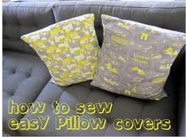 How To Make Sofa Pillow Covers How To Sew Easy Removable Pillow Covers Freshstitches