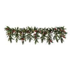 improvements indoor outdoor lighted christmas garland cambridge pre lit cascading garland improvements