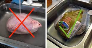 how to properly thaw a frozen turkey for thanksgiving today