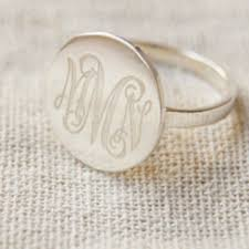 monogram rings sterling silver best sterling silver monogram ring products on wanelo