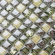 brown glass tile backsplash ideas bathroom mosaics ice crackle