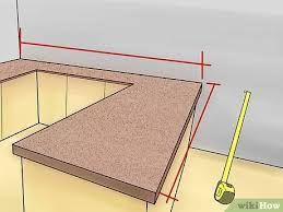 how to measure for an island countertop 4 ways to measure countertops wikihow