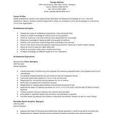 dental specialist resume administrative professional resume