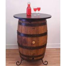 Whiskey Barrel Pub Table Aunt Molly Barrel Products Vintage Whiskey Barrel Checker Table