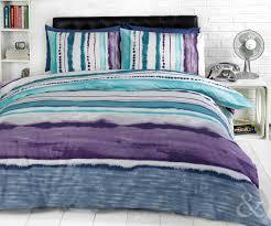 tye dye printed bedding contemporary striped duvet cover cotton