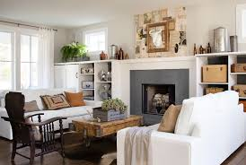 Display Collections How To Decorate With Antiques - Living room decor ideas pictures