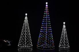 collapsible christmas tree 192 wireless remote outdoor white led cone tree with