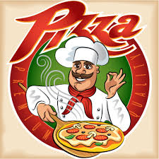 chef pizza chef with pizza vector free vector in encapsulated