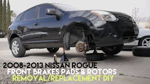 Nissan Rogue 2008 - 08 13 nissan rogue front brake pads u0026 rotors removal replacement